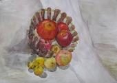 Натюрморт с яблоками /акварель/ Куслицкая Вероника