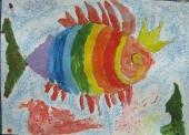 Королева рыба /гуашь/ Мира